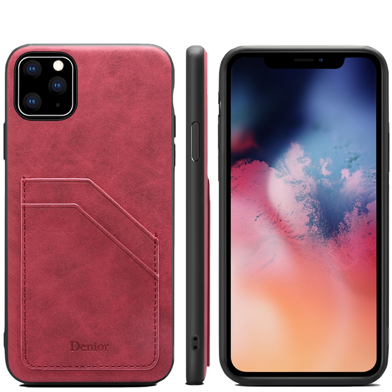Double Card Leather Case for iPhone 11/11 Pro/11 Pro Max 8