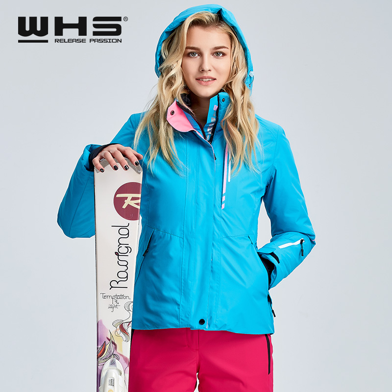 WHS veste de ski pour femmes veste thermique de sports de plein air d'hiver imperméable, coupe-vent et respirant veste en coton - 6