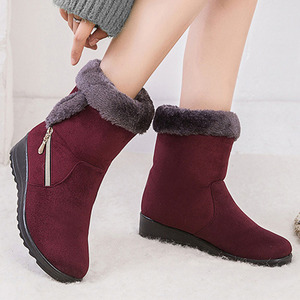 Boots Women Winter Ankle Snow Boots Flat Heel Martin Boots Fashion Zipper Women's Winter Boots Plus Size Zapatos Mujer Dropship