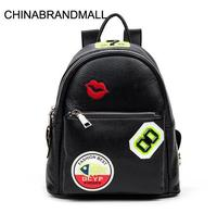 Genuine leather women fashion embroider large backpack outdoor casual bag