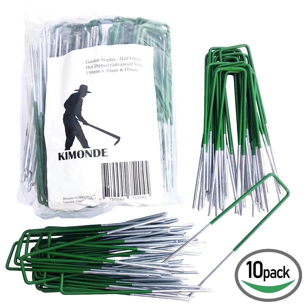 50pc/Set U-Shaped Garden Ground Grass Lawn Turf Galvanised Pegs Staples Fastening Nails Flower Plant Garden Supplies