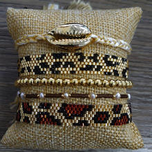 Go2boho Leopard Bracelet MIYUKI Women Gold Jewelry Men Armband Boho Chic Shell Pulseras Mujer 2019 Tassel Tiger Pattern