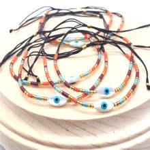 Go2boho MIYUKI Evil Eye Bracelets Fatima Hand Bracelet Women Cross Pulsera Mujer 2019 Boho Chic Summer Beach Star Jewelry Bijoux цена