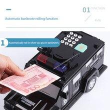 Moneybox papel caixa de dinheiro crianças grande cofre de poupança caixa de moeda grande música brinquedo senha dinheiro caminhão carro mealheiro
