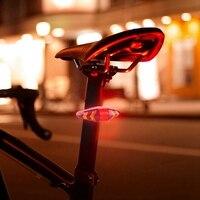 Bicicleta sinal de volta remoto sem fio mountain bike luzes traseiras ciclismo piscando faróis