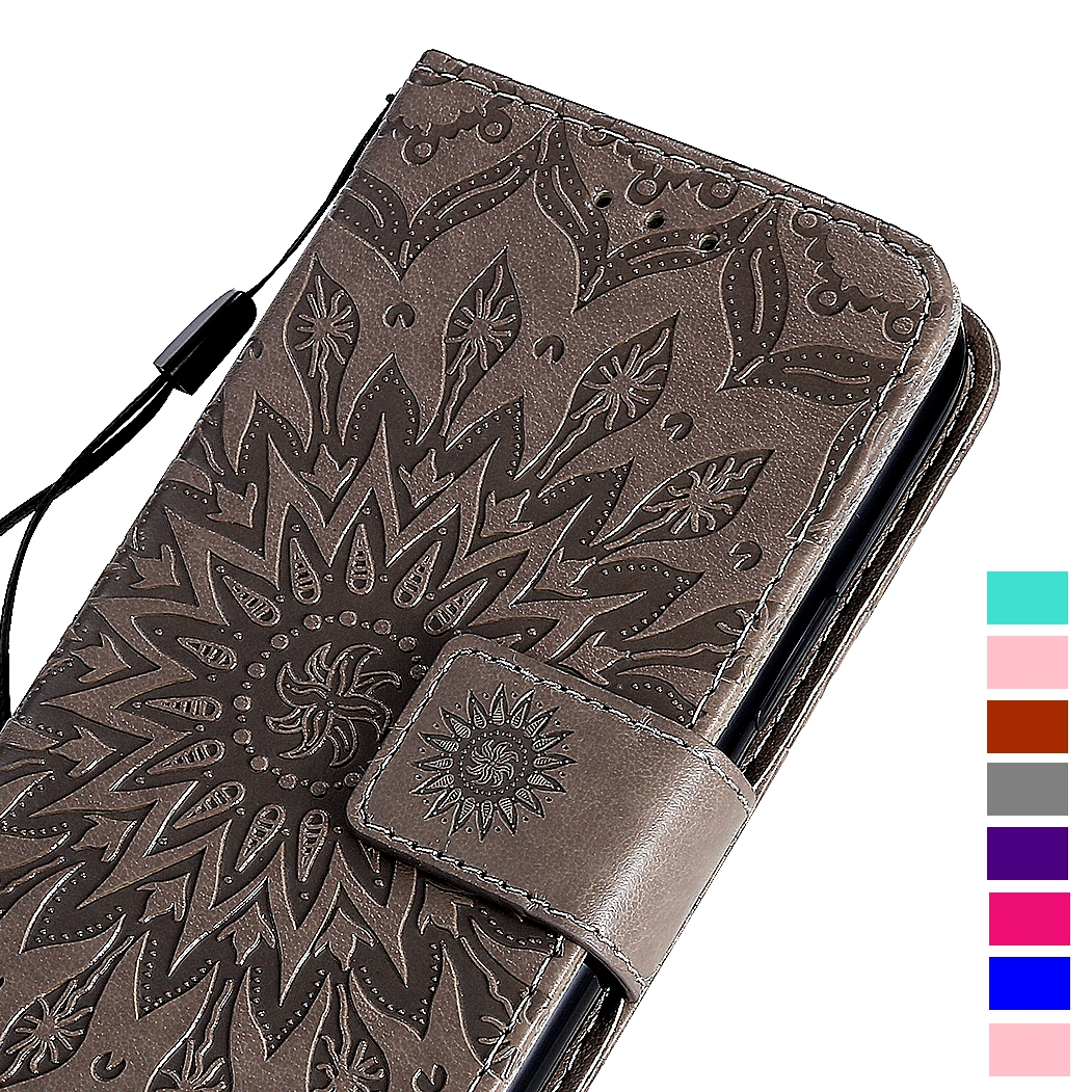 3D Mandala Pattern <font><b>Leather</b></font> Wallet <font><b>Case</b></font> For <font><b>Samsung</b></font> Galaxy A70 A50 A40 A30 A20 A10 <font><b>S5</b></font> S6 S7 Edge S8 S9 S10 Plus S10E Flip Cover image