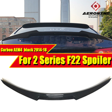 цены на F22 M4 Style sedan duckbill Carbon Fiber Spoiler Wing For BMW 2 Series F22 235i 218i 220i 230i Wings Rear Trunk Spoiler 2014-18  в интернет-магазинах