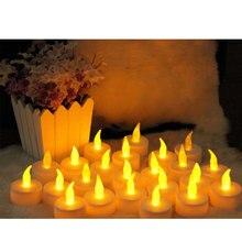 12 Светодиодный светильник для свечей, украшения для чайных свечей, вечерние, свадебные, домашние, безопасные лампы-свечи и светильник, беспламенный, Рождественский