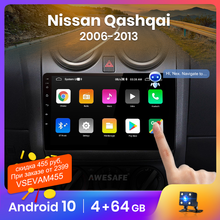 AWESAFE PX9 for Nissan Qashqai J10 2006 2013 Car Radio AI Voice Multimedia video player GPS No 2din 2 din Android 10.0 2GB+32GB