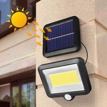 Lámpara Solar COB de 100 LEDs con Sensor PIR, luces de pared con energía Solar, impermeable, para exteriores, jardín, iluminación Industrial, # W
