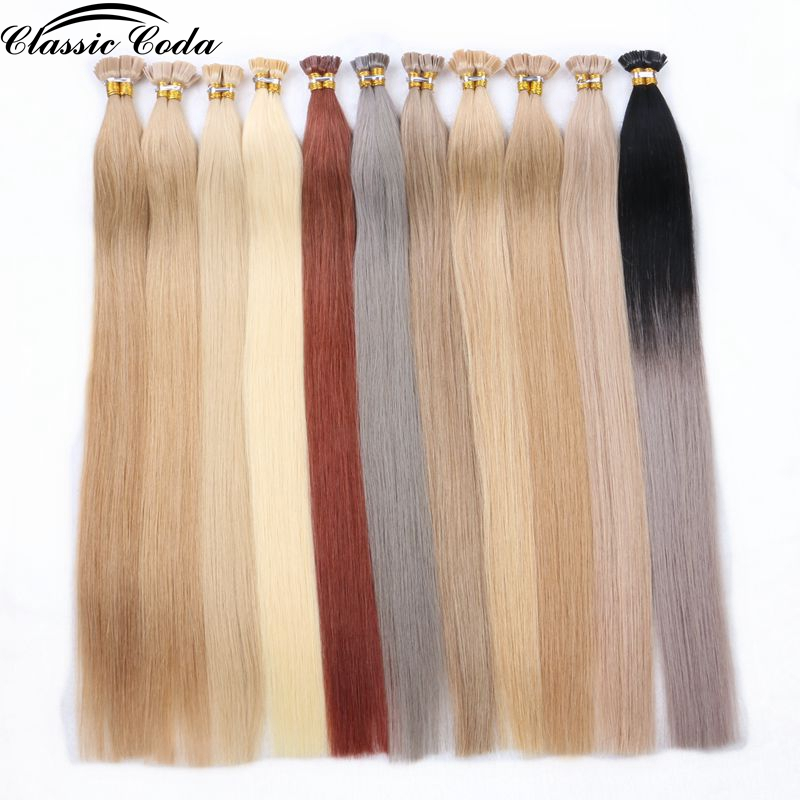 """Classic Coda 100g 22"""" Full Cuticle Remy Flat Tip Hair Extensions 1.0g/s Straight Capsules Keratin Pre Bonded Fusion Hair"""
