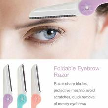 3pcs/set Eyebrow Trimmer Shaper Knife Foldable Template Stencil Portable Makeup Tool Shaping Brow Razor Definition Eyebrow new mermaid shaped design eyebrow trimmer eyebrow razor beauty makeup tool