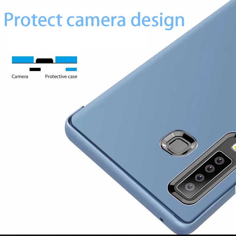 Espelho inteligente Do Caso Da Aleta Para Samsung Galaxy Nota 10 9 8 S10 S9 S8 S11 Plus S7 A9 A7 A8 2018 A10 A20 A30 A50 A60 A80 A70 A20E Capa