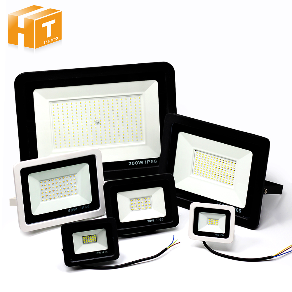 220V LED Floodlight Ultra-thin10W 30W 50W 100W LED Flood Light Reflector Waterproof Spotlight Outdoor Lighting Garden Wall Lamp