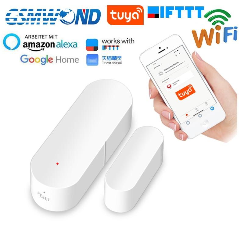 Wifi Door Open Sensor Tuyasmart Smart Life APP Door Open / Closed Detectors Home Smart Compatible With Alexa Google Home IFTTT