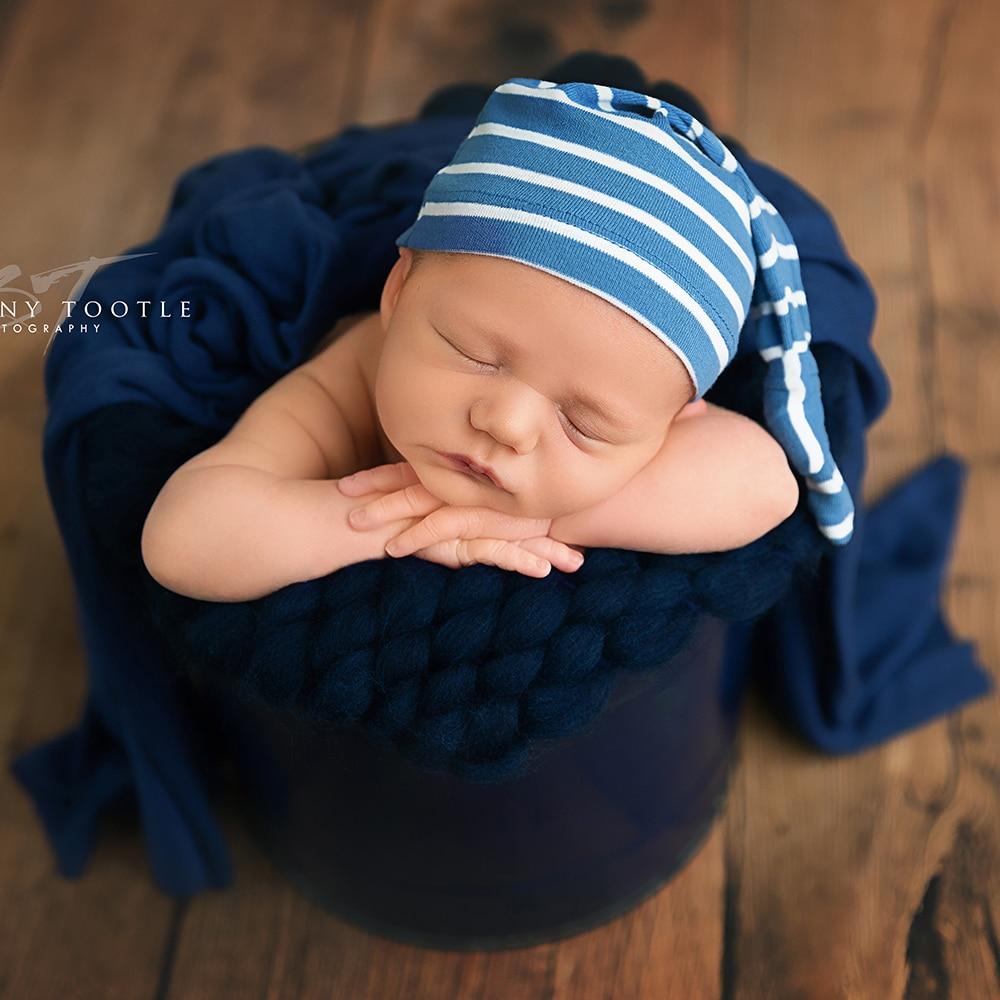 45x40cm Handmade Acrylic Hand Knitting Baby Photography Blanket Chunky Bump Blankets Newborn Basket Filler For Newborn Baby Prop