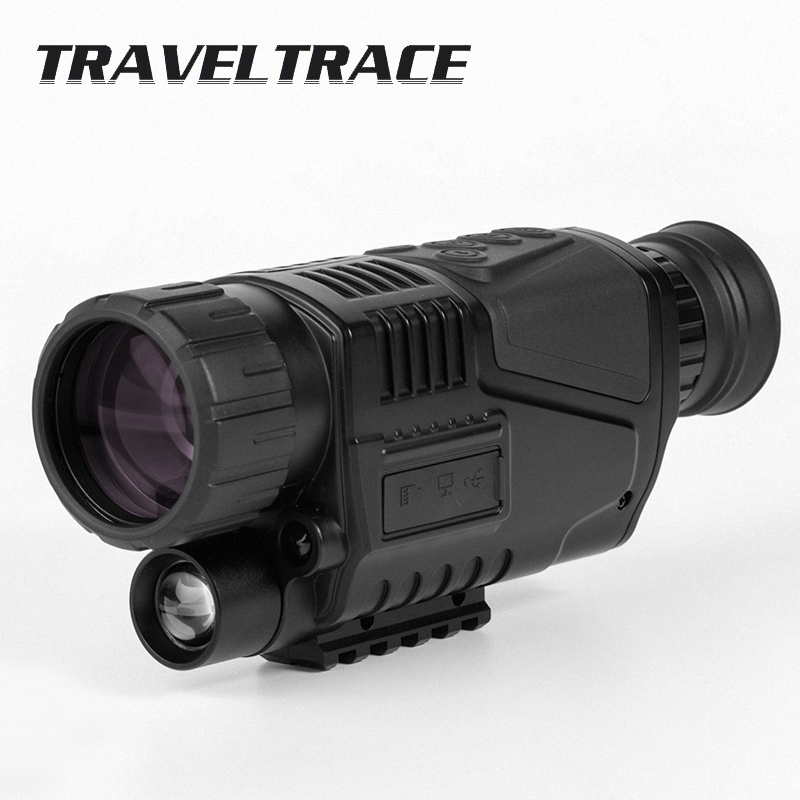 Powerful Infrared Night Vision Monocular Telescope Military Hunting HD Scope Digital Zoom Camera Device Goggles Black Portable