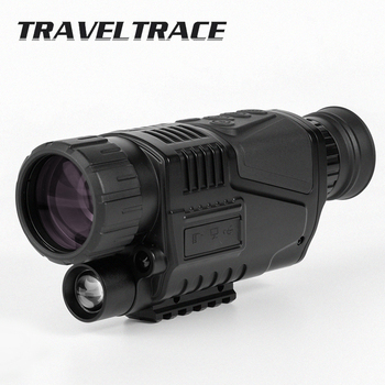Powerful Infrared Night Vision Monocular Telescope Military Hunting HD Scope Digital Zoom Camera Device Goggles Black Portable 5x42 infrared ir night vision digital video camera monocular scope telescope for outdoor hunting camping hiking us plug