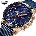 LIGE 2019 мужские s часы лучший бренд класса люкс модные водонепроницаемые часы спортивные кварцевые часы мужские хронограф из нержавеющей ста...