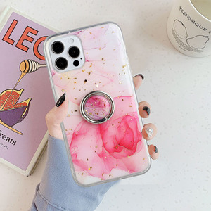 Image 4 - LOVECOM Vintage Gilt Gradient Marble Case With Ring For iPhone 11 12 Pro Max XR X XS Max 7 8 Plus Soft Epoxy Shockproof Cover