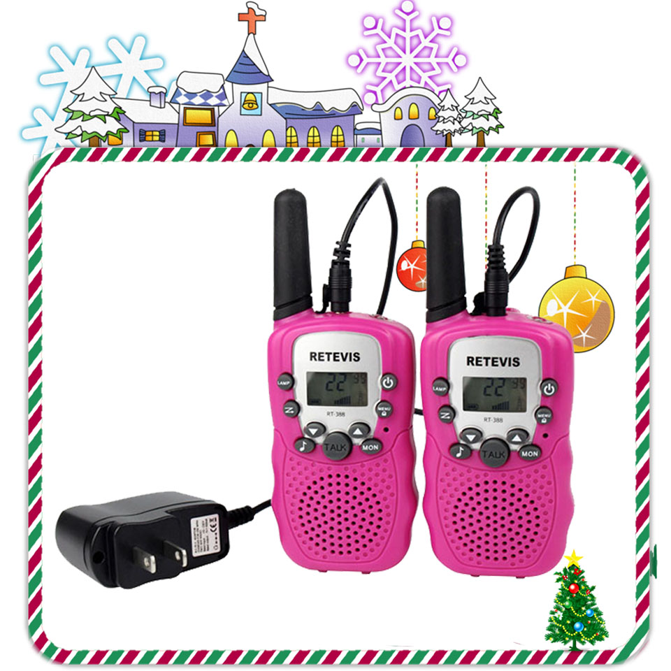 2pcs Retevis RT388 Kids Walkie Talkie Radio With Charger Battery UHF 2 Way Radio Portable VOX CTCSS/DCS A9109