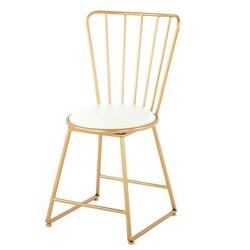 Taburete de hierro de red nórdica, silla moderna minimalista de café y té, mesa de hierro y silla, taburete trasero Nórdico