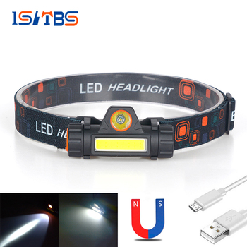LED Headlamp Super Bright Headlight COB+XPE Outdoor Waterproof  USB Rechargeable 18650 Battery Flashlights Camping Fishing Light 1