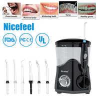 Nicefeel 7 Nozzle Toothbrushing Irrigator Oral Irrigator Dental Water Pulse Tooth Irrigator Water Jet for Brushing Teeth Clean
