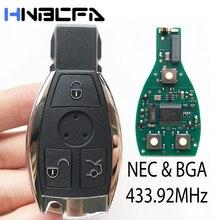 3 кнопки пульт автомобиль ключ для Mercedes Benz после 2000 год чехол ++с 433,92 МГц замена NEC чип ключ авто умный контроль замена