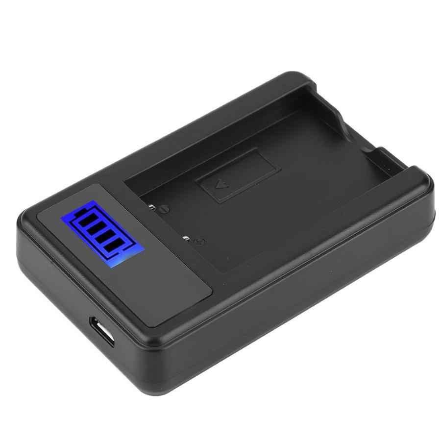 Carregador FNP-60 Camera Oplaadbare Lithium Ion Batterij Lader USB Enkele Snelle Opladen met LCD Display Power bank batterij