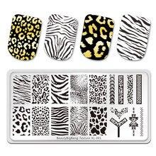 BeautyBigBang tłoczenie płytki tygrys Zebra wzór w cętki obraz zwierzęcia szablon ze stali nierdzewnej szablon Nail Art tekstury XL-001