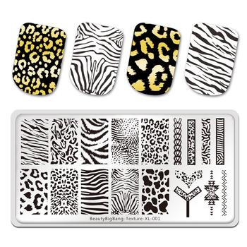 BeautyBigBang tłoczenie płytki tygrys Zebra wzór w cętki obraz zwierzęcia szablon ze stali nierdzewnej szablon Nail Art tekstury XL-001 tanie i dobre opinie CN (pochodzenie) 12*6cm 703556408428 Stainless Steel 1 Piece 0 04kg