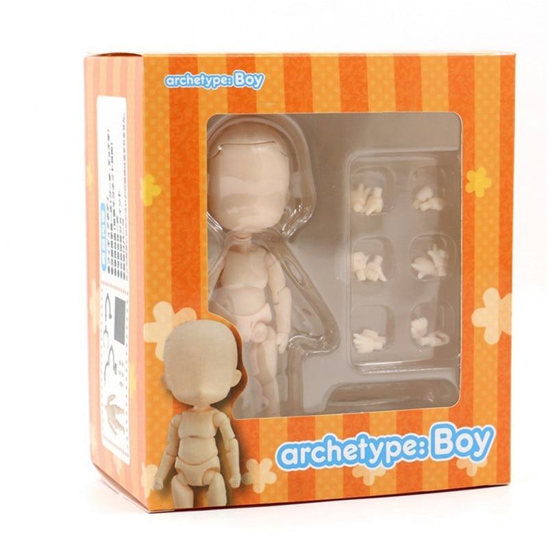 BODY KUN / BODY CHAN Boy Girl Cute Ver. Ferrite Movable Body Feminino He She PVC Action Figure Archetype Doll Model 14cm