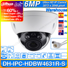 Dahua IPC HDBW4631R S 6MP POE ip kamera desteği 30M IR IK10 IP67 POE H.265 SD kart yuvası WDR yükseltme IPC HDBW4431R S