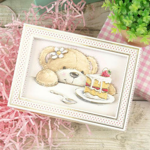 Image 2 - 15pcs/Set love Bear 3x4 inch Clear Stamps For DIY Scrapbooking HandCraft Paper Cards Transparent Stempels Silicone Seal New