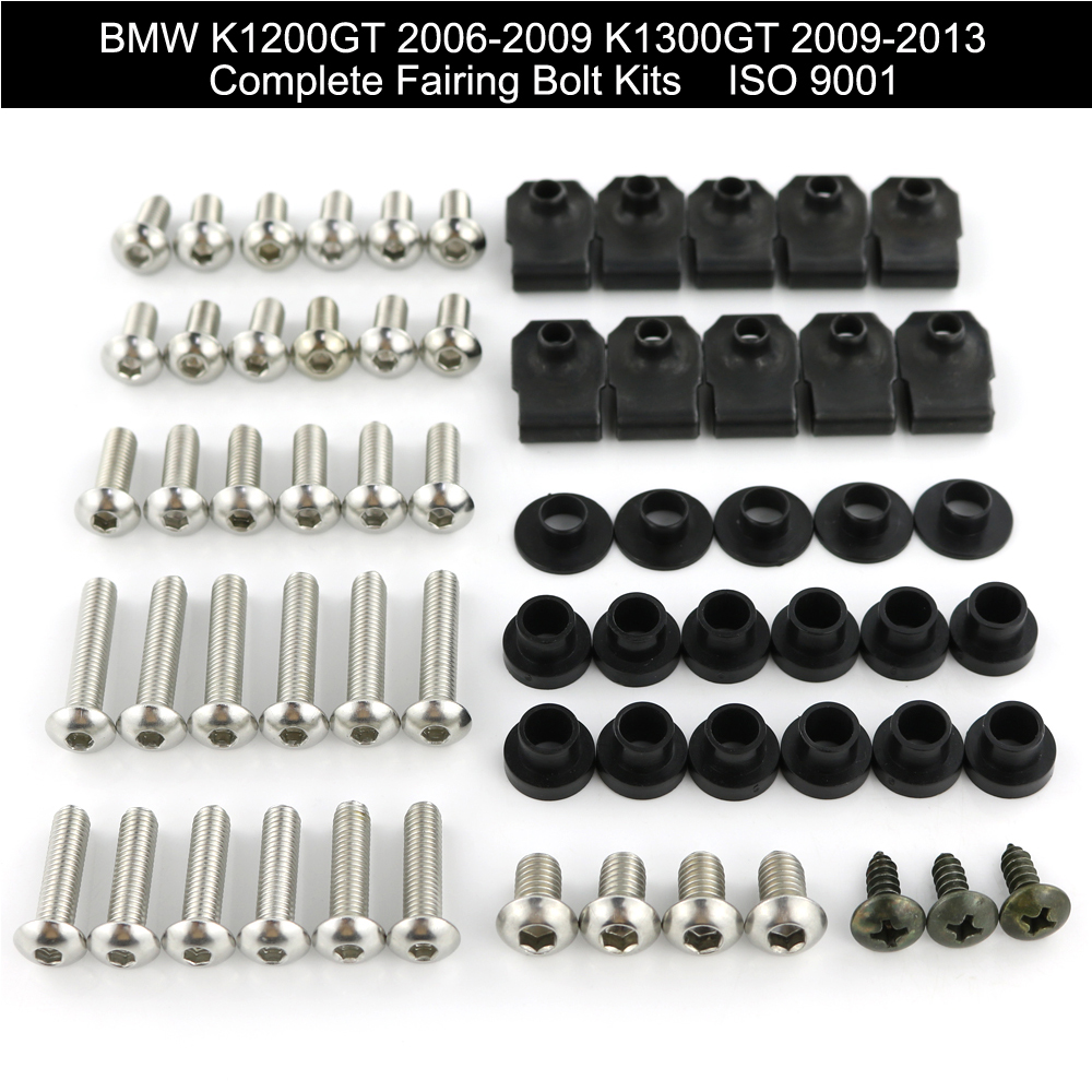 For BMW K1200GT 2006 2007 2008 2009 K1300GT 2009 2010 2011 2013 Complete Full Fairing Bolts Kit Motorcycle Cowling Bolts Clips