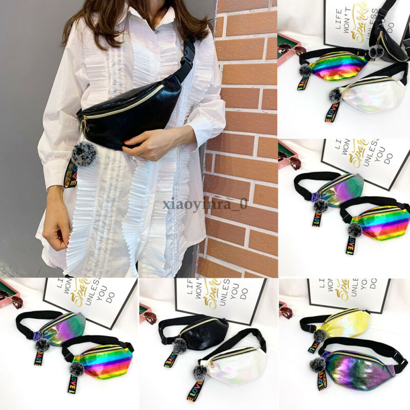 2020 Newest Women Waist Fanny Pack Belt Bag Travel Hip Bum Bag Small Purse Chest Pouch Ladies Colorful Chest Pack Belt Bag