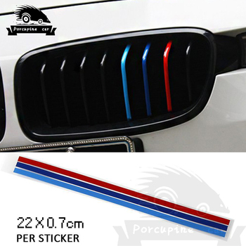 3-Color Decoration Grille Vinyl Strip car stickers Decal For BMW 1 2 3 4 5 7 F10 F20 F30 E36 E90 E46 X1 X3 X5 X6 G30 Accessories image
