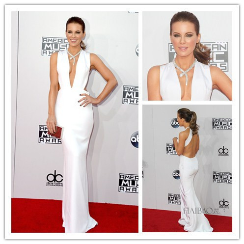 New Sexy Deep V Neck Backless White Long Prom Party Gown 2018 American Music Awards Robe De Soiree Simple Bridesmaid Dresses