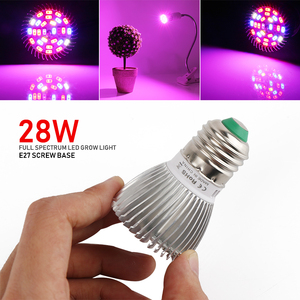 Image 5 - (8/Pack) 28W 28LED E27 LED Grow Light Full Spectrum Growing Led Lamp For Indoor Plants Hydroponics System Grow Tent Complete Kit