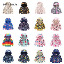 Autumn kids clothes girls jackets boys coat children hooded zipper windbreaker waterproof hoodies animal print fashion dinosaur(China)