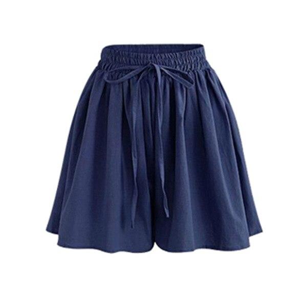 Large Size Wide Leg Shorts Women Xia Jiafei New Chiffon Hakama Fat Mm Elastic Waist Loose Wild Casual Pants