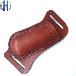 Image 5 - Crossing Fast Folding Knife Set Hunter Straight Knife Leather Scabbard Cutter Protective Cover Knife Bag Handmade Cowhide