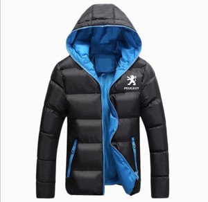 Image 2 - Winter Korean new Printed Down Jacket  Peugeot JACKET thickening coats clothes male casual jackets