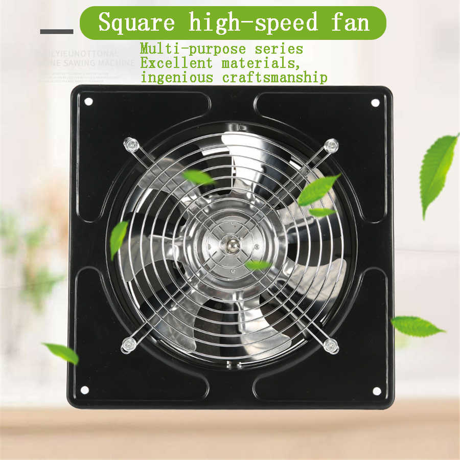 square air extractor exhaust fan high speed ventilating for bathroom kitchen toilet wall window mounted ventilation blower 220v