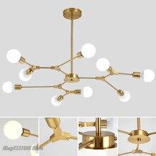 Mordern Светодиодный светильник в скандинавском стиле, подвесной светильник для гостиной, столовой, золотой, черный, домашний декор, светильник