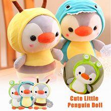 Peluche pingouin dessin animé mignon et créatif, poupée douce pour dossier de canapé, cadeaux d'anniversaire, ornements décoratifs Kawaii