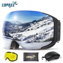 Магнитные лыжные очки copozz для катания на лыжах и сноуборде