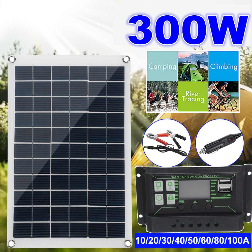 300W Solar Panel Kit Complete 12V USB With 10 100A Controller Solar Cells for Car Yacht RV Boat Moblie Phone Battery Charger|Solar Cells| - AliExpress