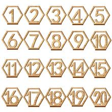 1 20 Numbers Wood Signs Wedding Hexagon Table Number Wooden Table Numbers Rustic Wedding Engagement Seat Numbers Sign